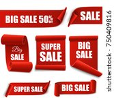 big sale red banners isolated... | Shutterstock .eps vector #750409816
