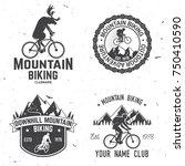 set of mountain biking clubs.... | Shutterstock .eps vector #750410590