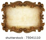 vintage classical frame isolated   Shutterstock . vector #75041110