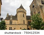 medieval houses in the village... | Shutterstock . vector #750412534