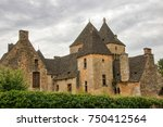 medieval houses in the village... | Shutterstock . vector #750412564