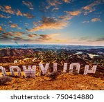 los angeles  california  ... | Shutterstock . vector #750414880