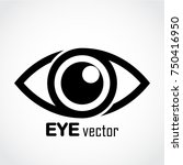 eye logo   eye design icon | Shutterstock .eps vector #750416950