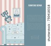 furniture repair illustration... | Shutterstock .eps vector #750418318