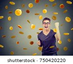 portrait of a happy young man... | Shutterstock . vector #750420220