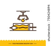food processing industry icon.... | Shutterstock .eps vector #750424894