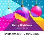 christmas. merry christmas... | Shutterstock .eps vector #750426808