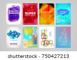 abstract backgrounds set.... | Shutterstock .eps vector #750427213