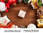 set of different christmas... | Shutterstock . vector #750429304