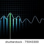 three dimensional graph of the... | Shutterstock . vector #75043300