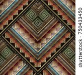 striped tribal embroidery... | Shutterstock .eps vector #750433450