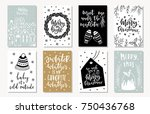 set of creative 8 journaling... | Shutterstock .eps vector #750436768