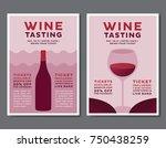 wine tasting event poster set | Shutterstock .eps vector #750438259