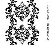 black vintage ornament  baroque