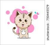 cutest kitten vector   Shutterstock .eps vector #750445579