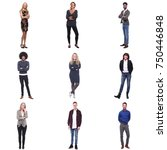 9 people in a square | Shutterstock . vector #750446848