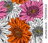 vector seamless pattern with... | Shutterstock .eps vector #750450613