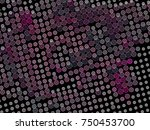 abstract winter background with ... | Shutterstock .eps vector #750453700