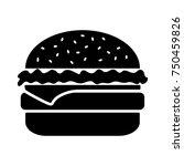 black and white cheeseburger... | Shutterstock .eps vector #750459826