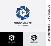 video maker logo | Shutterstock .eps vector #750460108