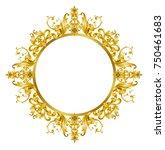 golden mirror frame | Shutterstock . vector #750461683