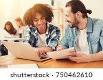 understanding. cheerful... | Shutterstock . vector #750462610