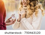 will you marry me  cropped... | Shutterstock . vector #750463120