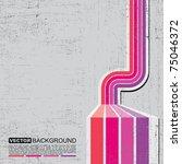 retro grunge background   vector   Shutterstock .eps vector #75046372