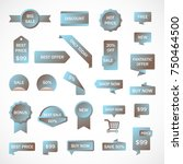 vector stickers  price tag ... | Shutterstock .eps vector #750464500