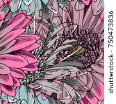 vector seamless pattern with... | Shutterstock .eps vector #750473836