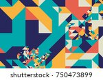 tangram graphic pattern   ... | Shutterstock .eps vector #750473899