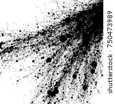 black mud splatter   vector... | Shutterstock .eps vector #750473989