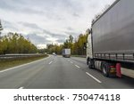 truck on freeway road  cargo... | Shutterstock . vector #750474118