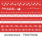 christmas decoration | Shutterstock .eps vector #750474436