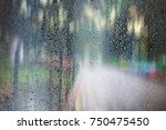 glass wet autumn background ... | Shutterstock . vector #750475450