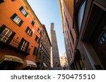 bologna  italy   october  2017  ... | Shutterstock . vector #750475510