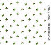 mistletoe seamless vector... | Shutterstock .eps vector #750477814