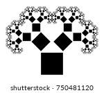 flat vector computer generated  ... | Shutterstock .eps vector #750481120