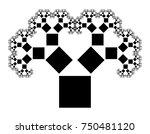 flat vector computer generated  ... | Shutterstock .eps vector #750481120