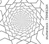 vector fractal twirl  rosette... | Shutterstock .eps vector #750481264