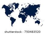 world map vector | Shutterstock .eps vector #750483520
