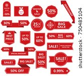 sale label collection. sale... | Shutterstock .eps vector #750485104