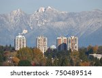 the cypress mountains near... | Shutterstock . vector #750489514