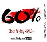 black friday banner. black... | Shutterstock .eps vector #750489829