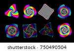 vector iridescent phyllotaxis... | Shutterstock .eps vector #750490504