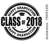 class of 2018 grunge rubber... | Shutterstock .eps vector #750491350