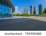 empty road and modern office... | Shutterstock . vector #750500380