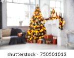 defocused classic white... | Shutterstock . vector #750501013