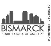 bismarck skyline silhouette...   Shutterstock .eps vector #750505150