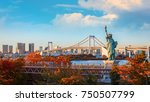 statue of liberty in odaiba... | Shutterstock . vector #750507799
